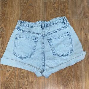 Cotton On Shorts - Cotton On high waisted denim shorts